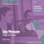 Lina Meruane es la invitada del último Libro Abierto: conversaciones con Alfredo Lewin.