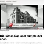 La Biblioteca Nacional de Chile en la prensa