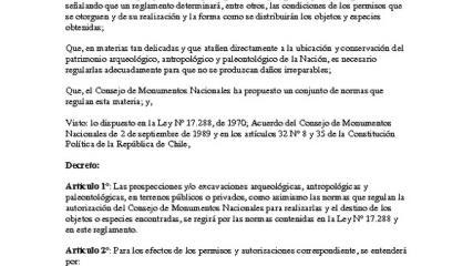 Imagen de Reglamento Arqueológico, Antropológico y Paleontológico