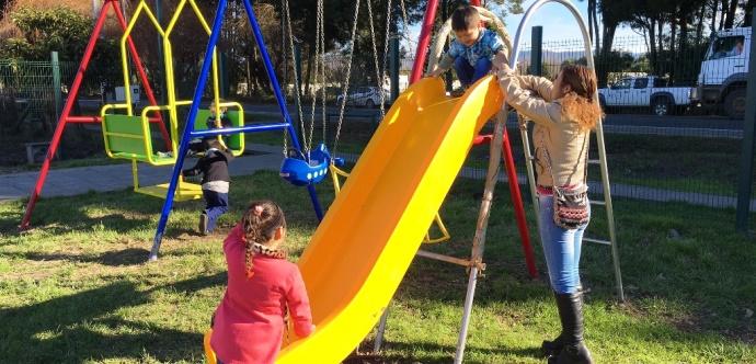 Juegos infantiles instalados en las comunas de Ñuble y Biobío