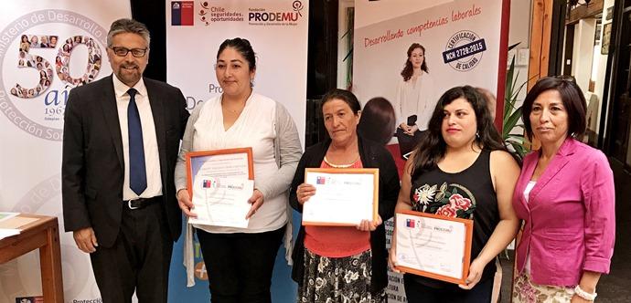 Mujeres que participaron del programa