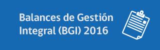 Balances de Gestión Integral 2016