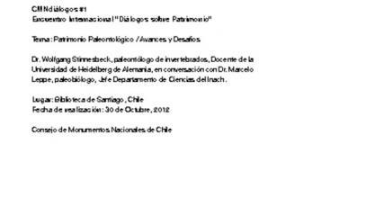 Imagen de CMN Diálogos #1 - Paleontología