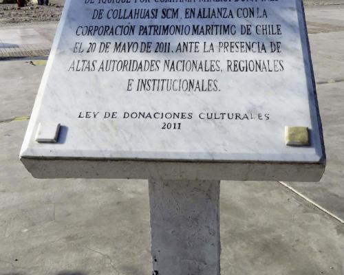 Imagen del monumento Monolito Museo Corbeta Esmeralda