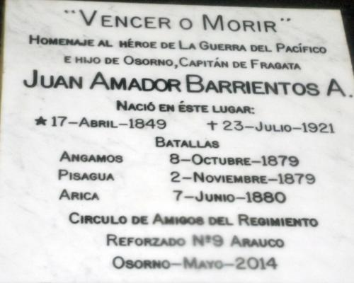 Imagen del monumento Juan Amador Barrientos