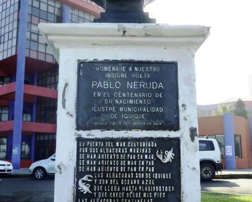 Imagen del monumento Pablo Neruda