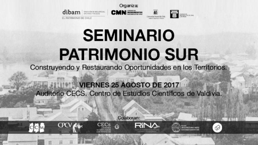 """Imagen de Anuncian Seminario Patrimonio Sur """"Construyendo y Restaurando Oportunidades en los Territorios"""" en Valdivia"""