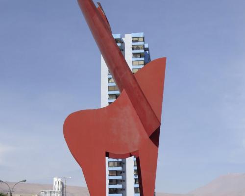 Imagen del monumento A los Inmigrantes Lucanos