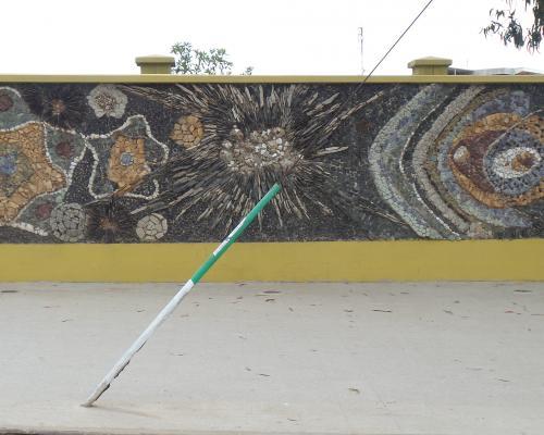 """Imagen del monumento Mural """"Vida Oceánica"""" de María Martner"""