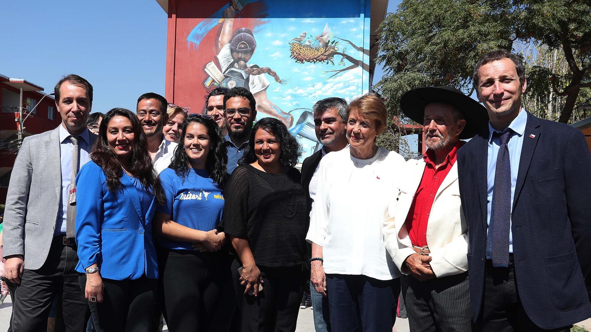Imagen de Ministra Valdés lanza convocatoria para el Día del Patrimonio 2019 e inaugura mural en el Museo a Cielo Abierto en San Miguel