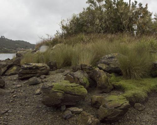 Imagen del monumento Corrales de Pesca y Conchales Arqueológicos ubicados en la Isla Chala
