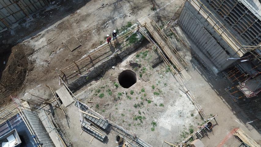 Imagen de El histórico pozo que descubrieron las obras de Maestranza San Eugenio