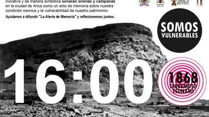 Imagen de Arica conmemora terremoto y tsunami de 1868