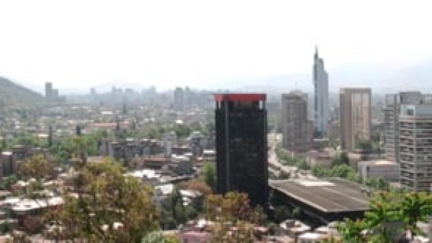 Imagen de Desde el Cerro Santa Lucia hacia el oriente entre 1865 y 2007