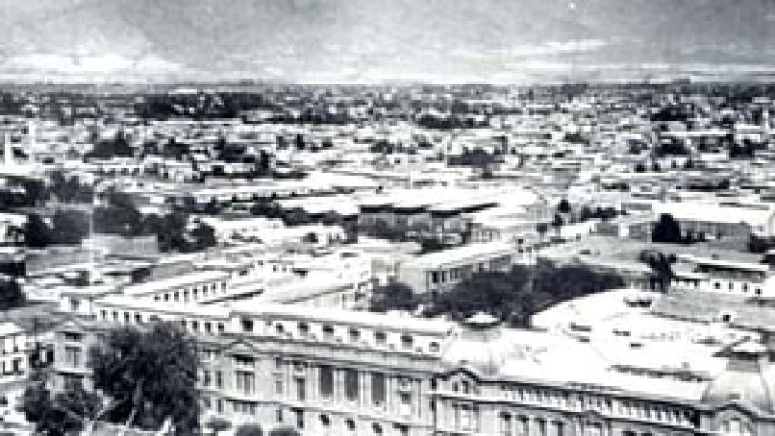 Imagen de Desde el Cerro Santa Lucia entre 1930 y 2012