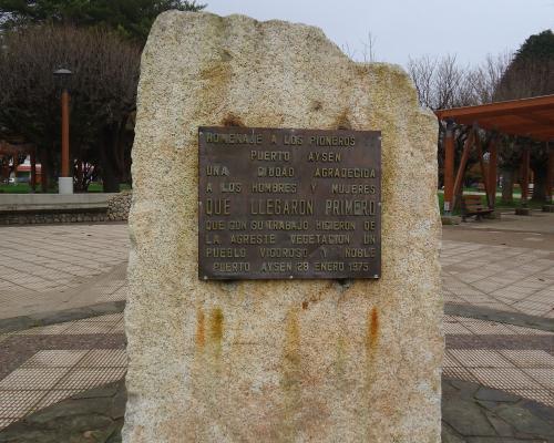 Imagen del monumento Homenaje A Los Pioneros De Puerto Aysén
